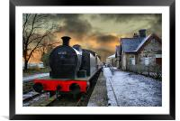 The Train Is In The Station, Framed Mounted Print