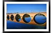 Bergerac Bridge, Framed Mounted Print