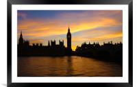 Golden Hour in Westminster, Framed Mounted Print