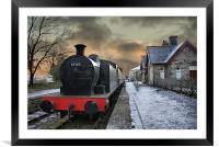 The Train Is In The Station - Version 2, Framed Mounted Print