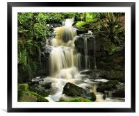 Steeton Falls, Framed Mounted Print