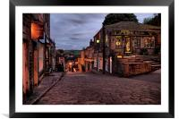 Haworth High Street At Dusk, Framed Mounted Print