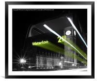 Waterloo 211 Ghost Bus, Framed Mounted Print