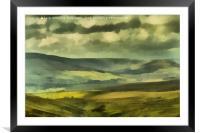 Wensleydale Digital Painting, Framed Mounted Print