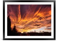 Sunset In Bradford, Framed Mounted Print