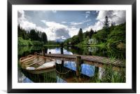 Boat At Loch Ard, The Trossachs, Framed Mounted Print
