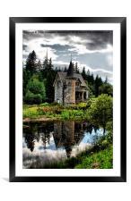 The Secret Fairytale Gatelodge, Framed Mounted Print