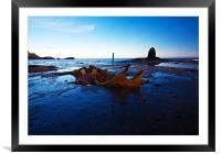 ship wreck, Framed Mounted Print