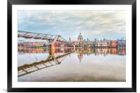 River Thames at Dawn, Framed Mounted Print