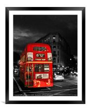 Red London Bus, Framed Mounted Print