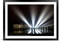 Leeds Castle and Laser Lights, Framed Mounted Print