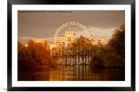 St. James's Park and the London Eye, Framed Mounted Print