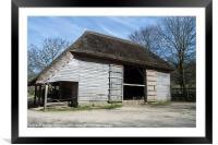 The Cowfold Barn, Framed Mounted Print