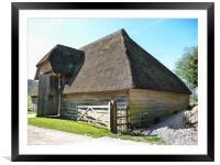 Court Barn, Framed Mounted Print