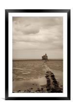 Grain Tower Battery, Framed Mounted Print