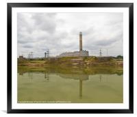 Grain Power Station, Framed Mounted Print