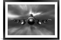 F-16 Fighting Falcon, Framed Mounted Print