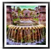 Arundel Castle Garden Pond, Framed Mounted Print