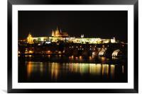 Night Prague, Framed Mounted Print
