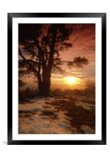 Sunset on Leith Hill, Framed Mounted Print