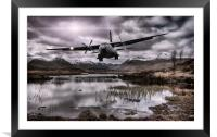 Flying through the Glens, Framed Mounted Print
