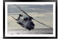 Merlin Helicopter, Framed Mounted Print