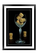 Wine glass, Framed Mounted Print
