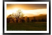 Snowdonia Sunset, Framed Mounted Print