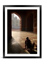 Tourist Photographing Taj Mahal, Framed Mounted Print