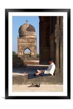 Relaxing at the Bahid Shahi Tombs Bidar, Framed Mounted Print