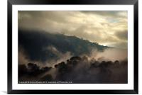 Morning Mist in Nepal, Framed Mounted Print