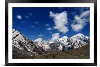 Snow Topped Mountains in the Spiti Valley, Framed Mounted Print