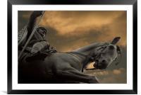 Statue of Wenceslas, Wenceslas Square, Prague, Framed Mounted Print