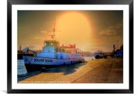 With The Sun Behind You!, Framed Mounted Print