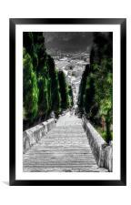 Calvary Steps Pollensa, Framed Mounted Print