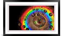 CD Rainbow, Framed Mounted Print