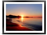 Sunrise Over Puerto Pollensa, Framed Mounted Print