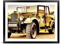 Army Humber FWD Heavy Utility, Framed Mounted Print