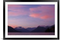 Canadian Sunset, Framed Mounted Print