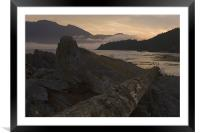 Boat bay, Framed Mounted Print
