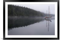 Foggy Boat Bay, Framed Mounted Print