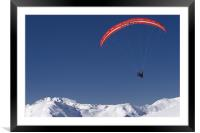 Paragliding, Framed Mounted Print