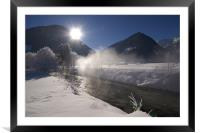 Cold morning , Framed Mounted Print