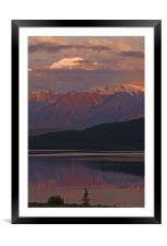 Midnight at Wonder Lake, Framed Mounted Print