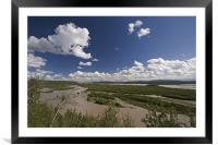 Tenana River, Framed Mounted Print