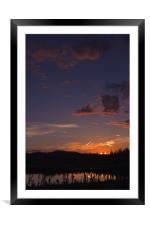 Yukon Nights II , Framed Mounted Print