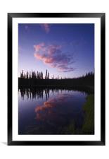 Yukon Nights IV , Framed Mounted Print