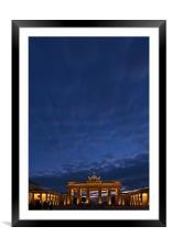 Berlin sky, Framed Mounted Print