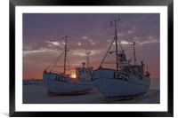 Danish sunset, Framed Mounted Print