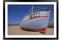 Fisher boats, Framed Mounted Print